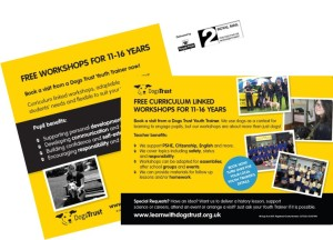 Dogs Trust Youth Trainer Postcard