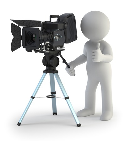 17379518 - 3d small people - cameraman
