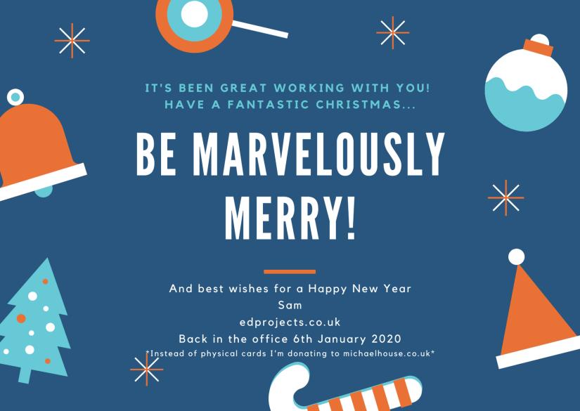 Blue Illustration Holiday Greeting Consumer_personal Postcard